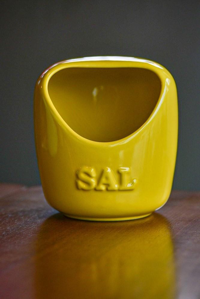 Saleiro De Cerâmica 650G Amarelo Ceraflame