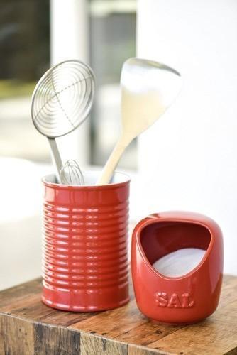 Saleiro De Cerâmica 650G Vermelho Ceraflame