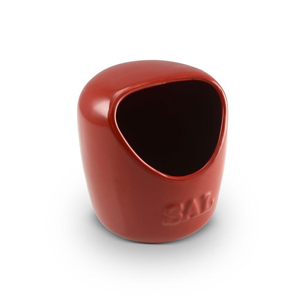 Saleiro De Cerâmica 650G Vermelho Mondoceram