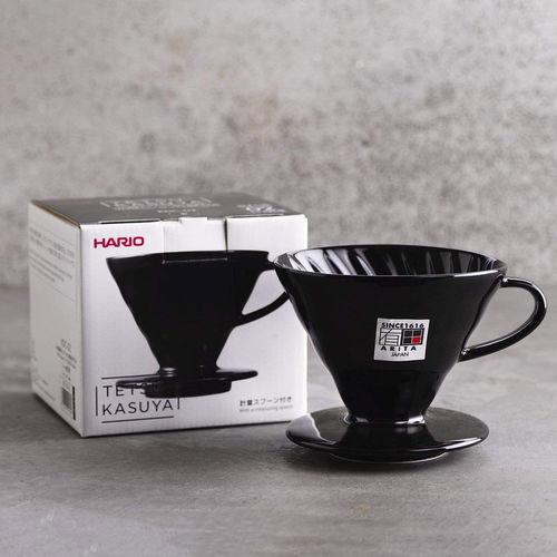 Suporte Para Filtro De Café V60-02 Cerâmica Preto  Hario Edição Tetsu Kasuya