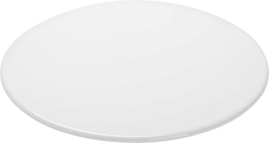 Tábua Para Servir Redonda Em Melamina 30,5Cm - Branco Marfim - Oxford
