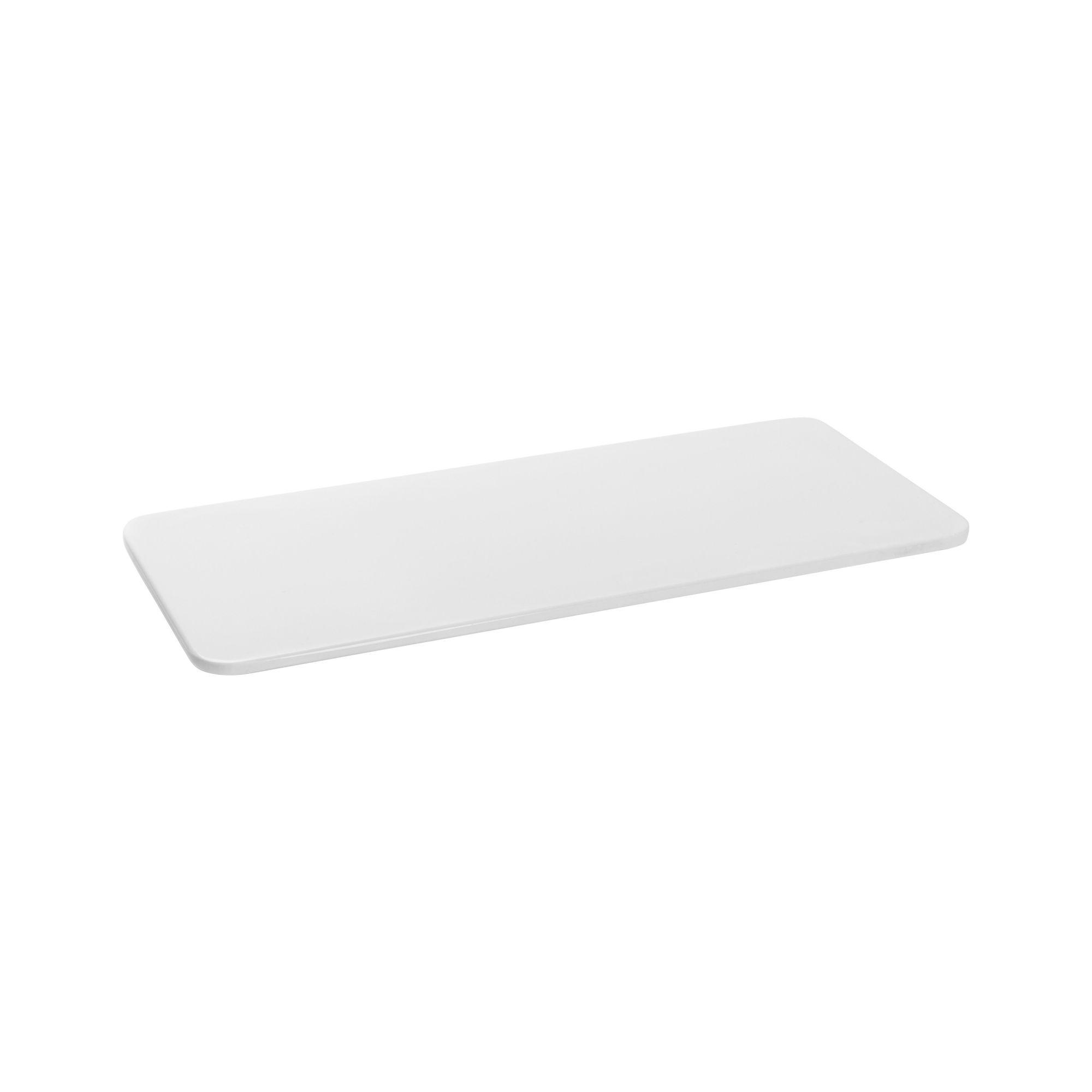 Tábua Para Servir Retangular Em Melamina 32,3X13,7Cm - Branco Marfim - Oxford