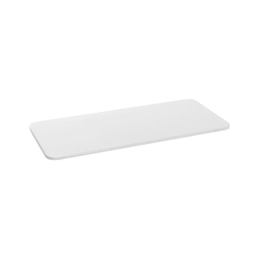 Tábua Para Servir Retangular Em Melamina 35,5X16,2Cm - Branco Marfim - Oxford