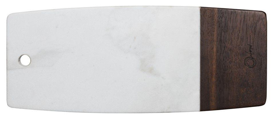 Tábua Retangular Para Servir De Mármore E Madeira 33Cm - Oxford
