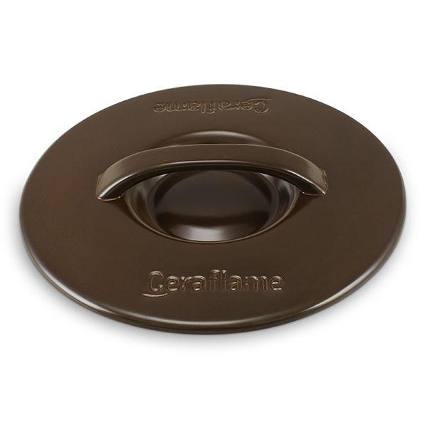 Tampa De Cerâmica Para Caçarola Ceraflame 18Cm Chocolate