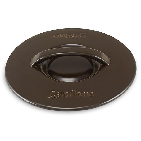 Tampa De Cerâmica Para Caçarola Ceraflame 24Cm Chocolate