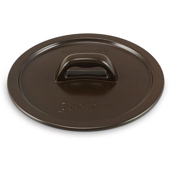 Tampa De Cerâmica Para Caçarola Ceraflame Martelada 24Cm Chocolate