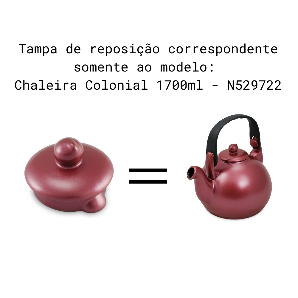 Tampa Para Chaleira Colonial E Chaleira Gourmet Rose Gold