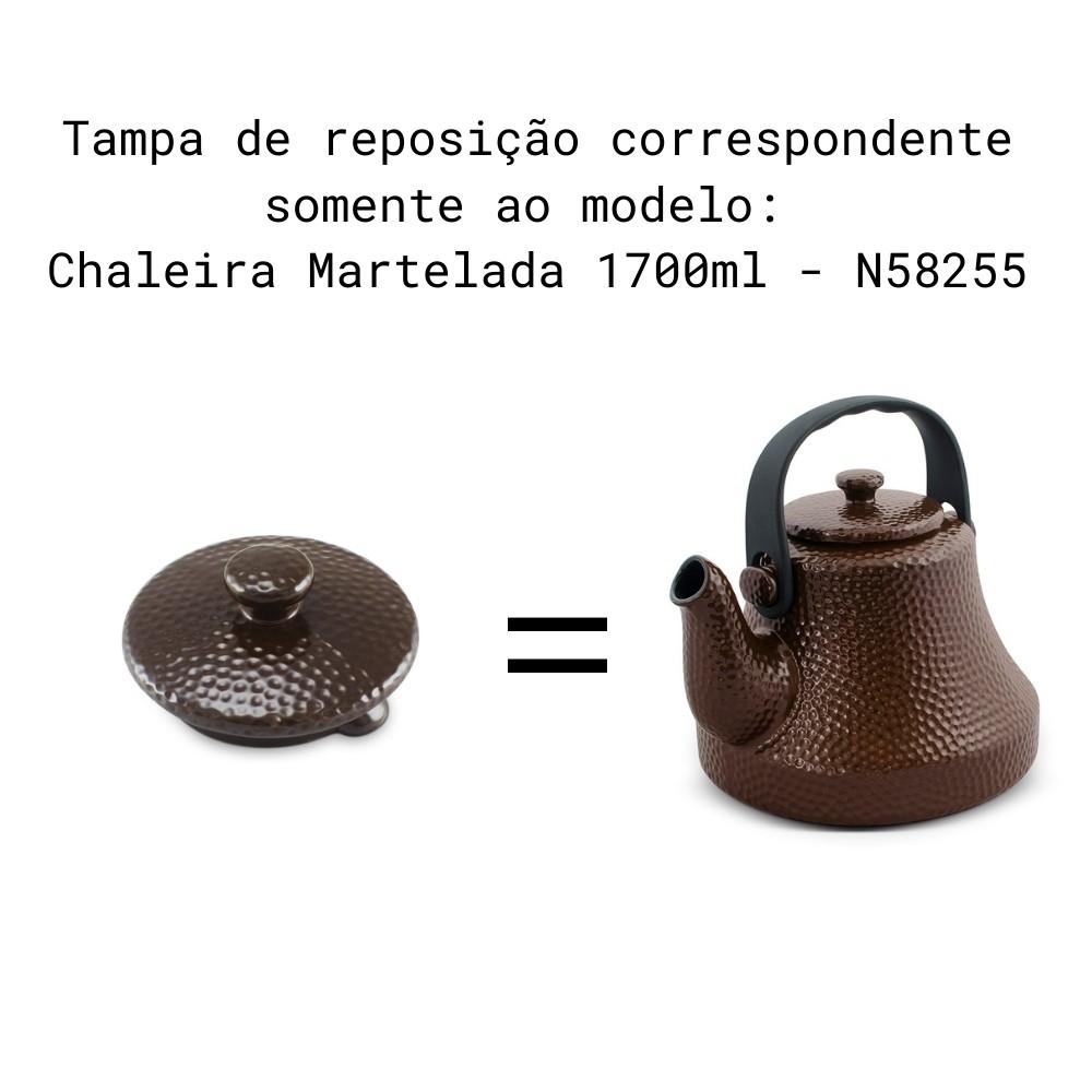 Tampa Para Chaleira Martelada Chocolate