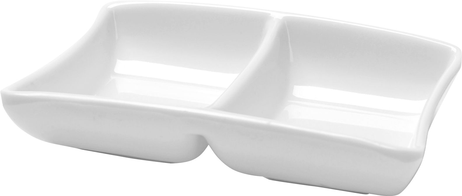 Tigela Dupla Belisco P/ Molho Em Melamina 120Ml 12,5Cm - Branco Marfim - Oxford