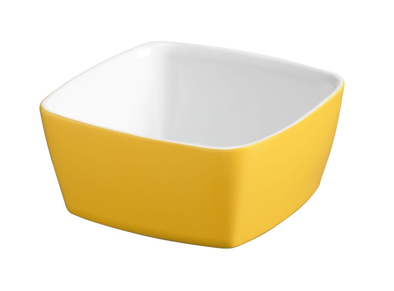 Tigela Quadrada De Cerâmica Ceraflame 10Cm 200Ml  -  Amarelo