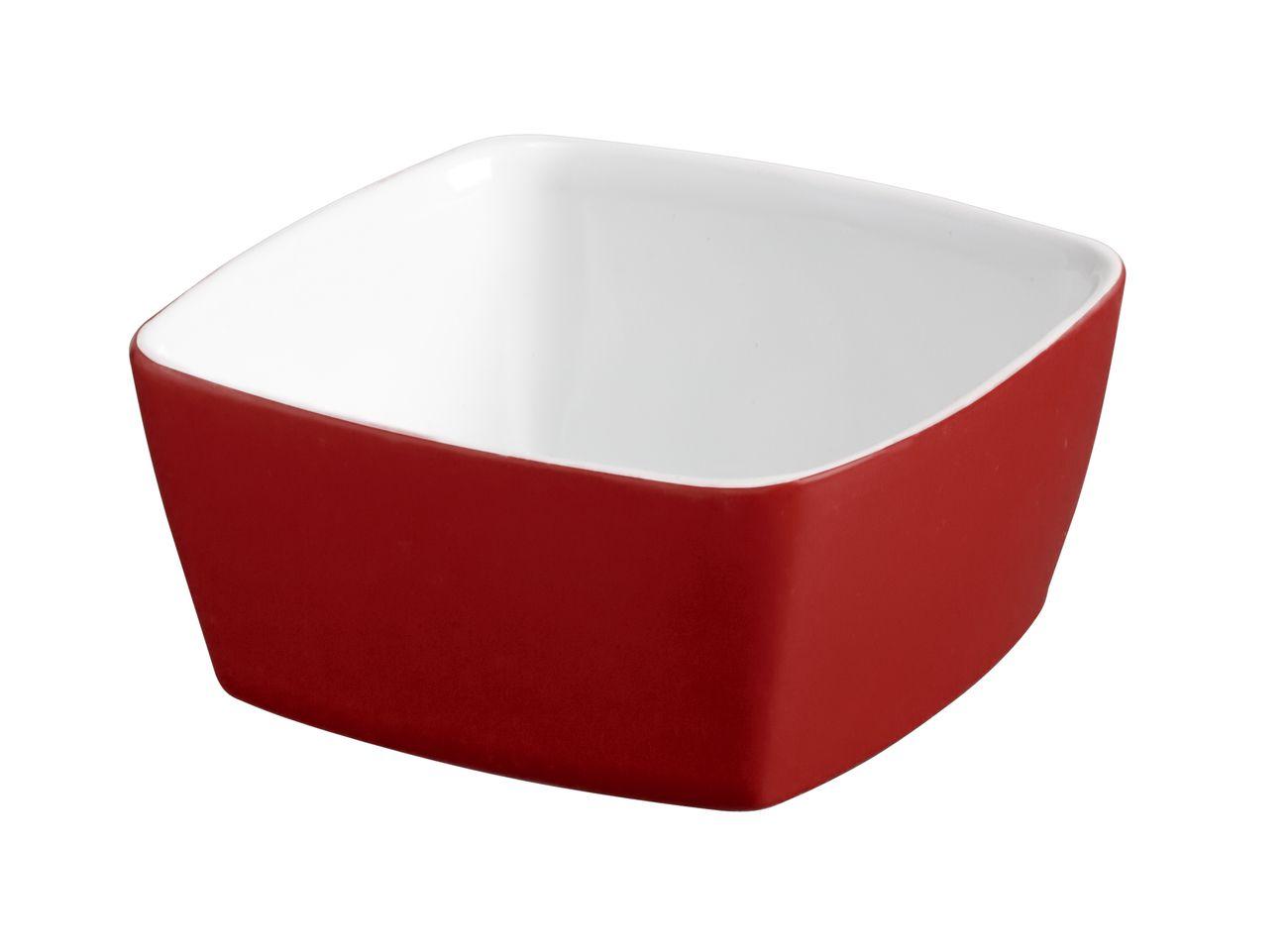 Tigela Quadrada De Cerâmica Ceraflame 10Cm 200Ml  -  Vermelho