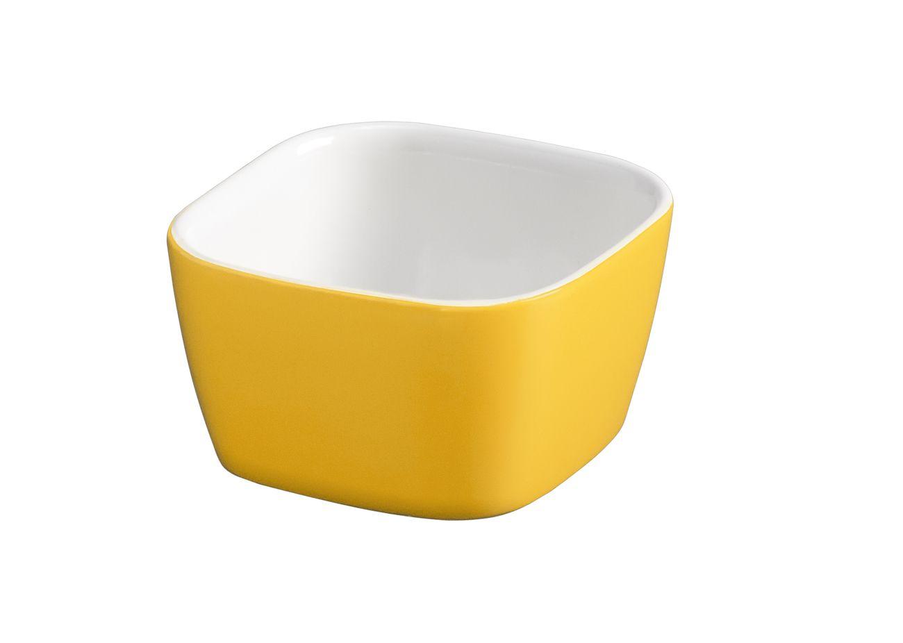 Tigela Quadrada De Cerâmica Ceraflame 6cm 50Ml  -  Amarelo