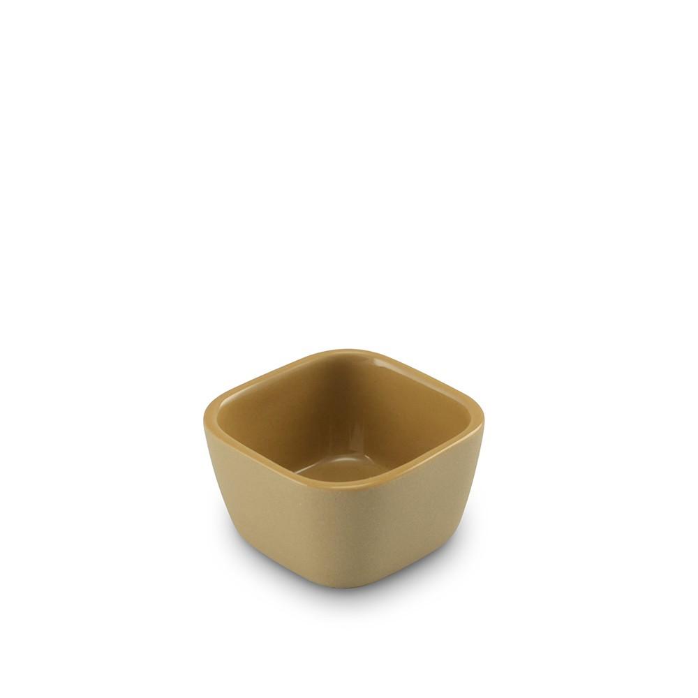 Tigela Quadrada De Cerâmica Mondoceram Origens  6Cm 50Ml  -  Ocre