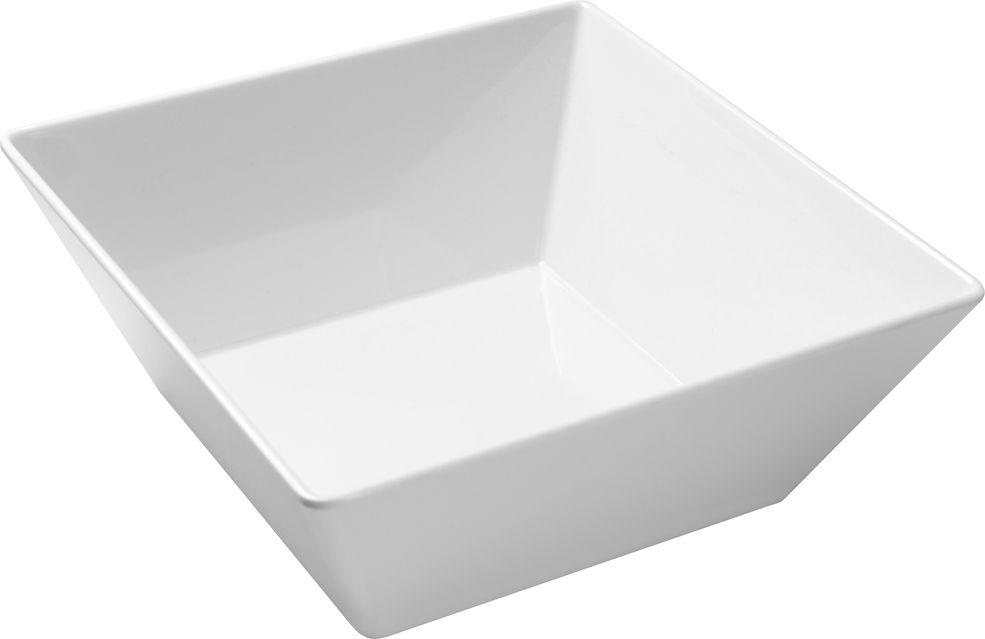 Tigela Quadrada Em Melamina 3300Ml 24X24Cm - Branco Marfim - Oxford