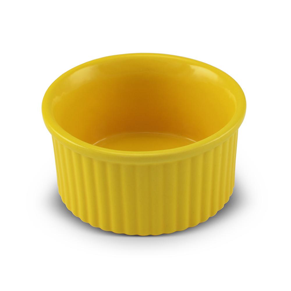 Tigela Ramequim De Cerâmica Ceraflame 10Cm Amarelo