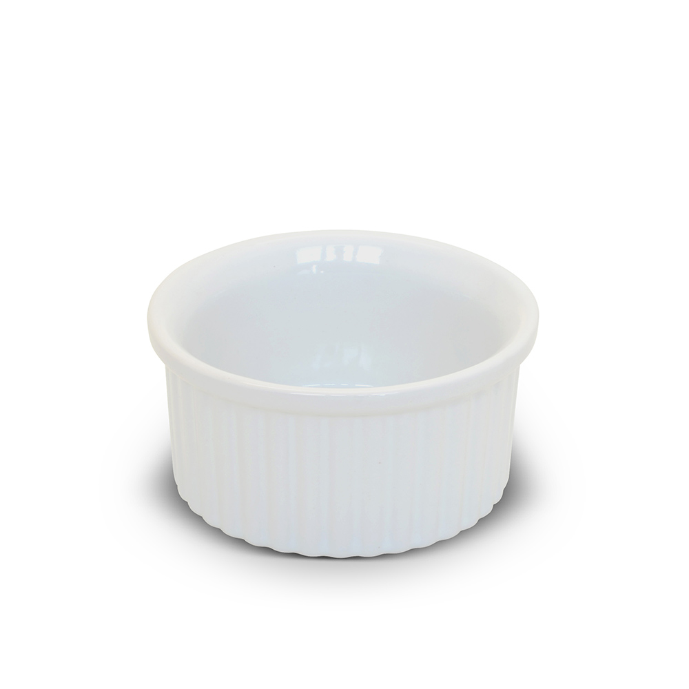 Tigela Ramequim De Cerâmica Ceraflame 8Cm Branco