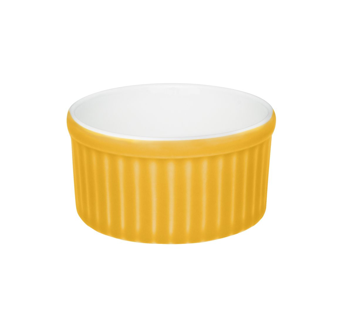 Tigela Ramequin 10X5Cm 180Ml - Branco/Amarelo - Oxford Cookware