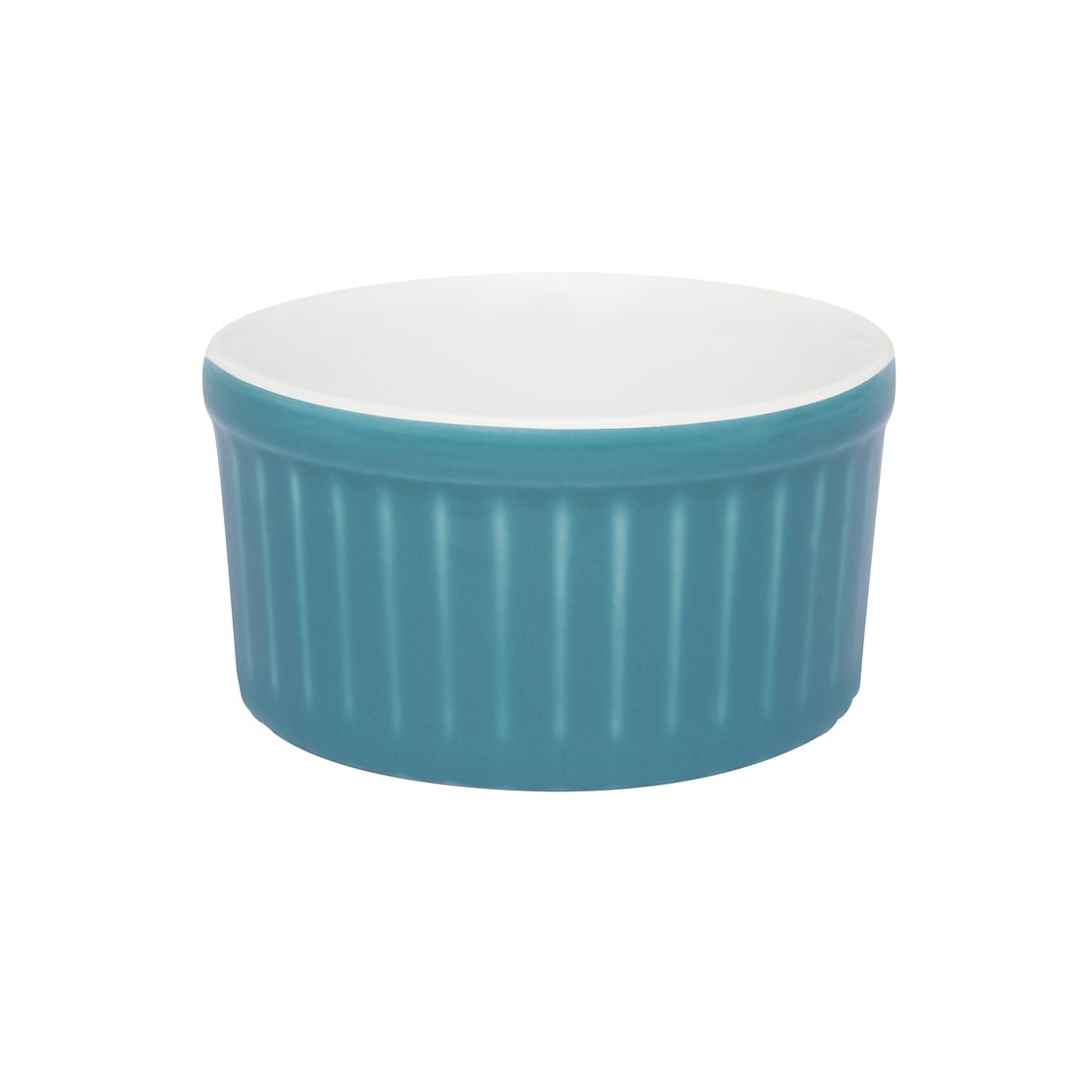 Tigela Ramequin 10X5Cm 180Ml - Branco/Azul - Oxford Cookware