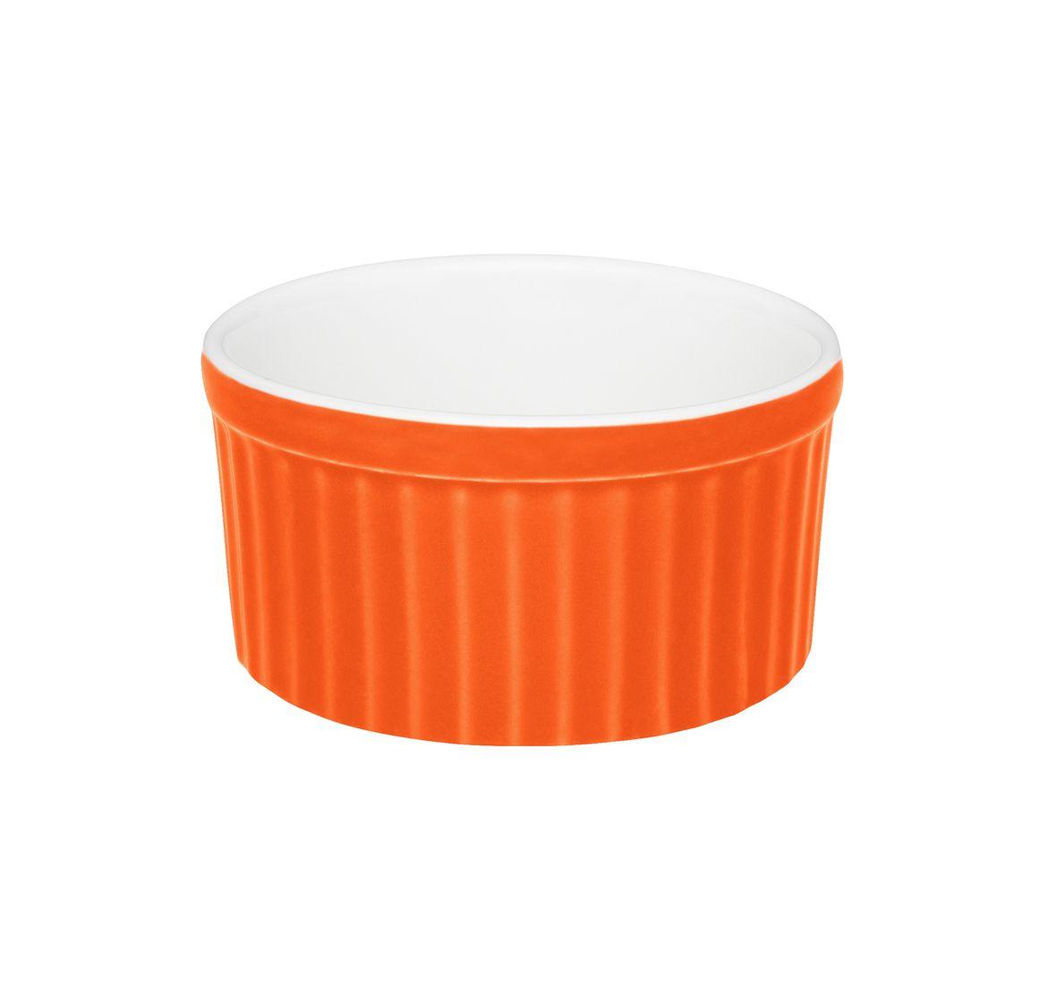 Tigela Ramequin 10X5Cm 180Ml - Branco/Laranja - Oxford Cookware