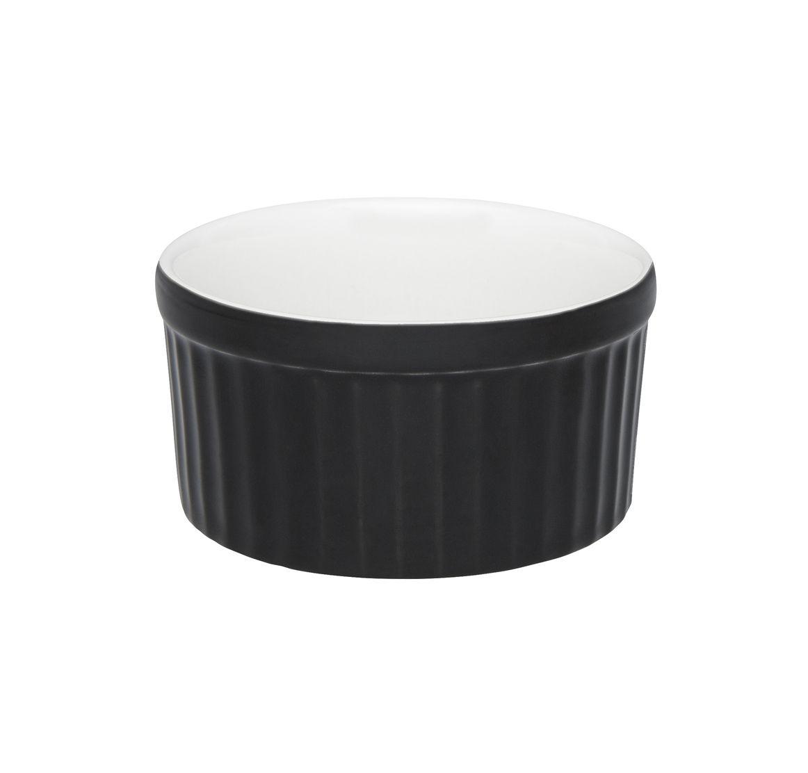 Tigela Ramequin 10X5Cm 180Ml - Branco/Preto - Oxford Cookware
