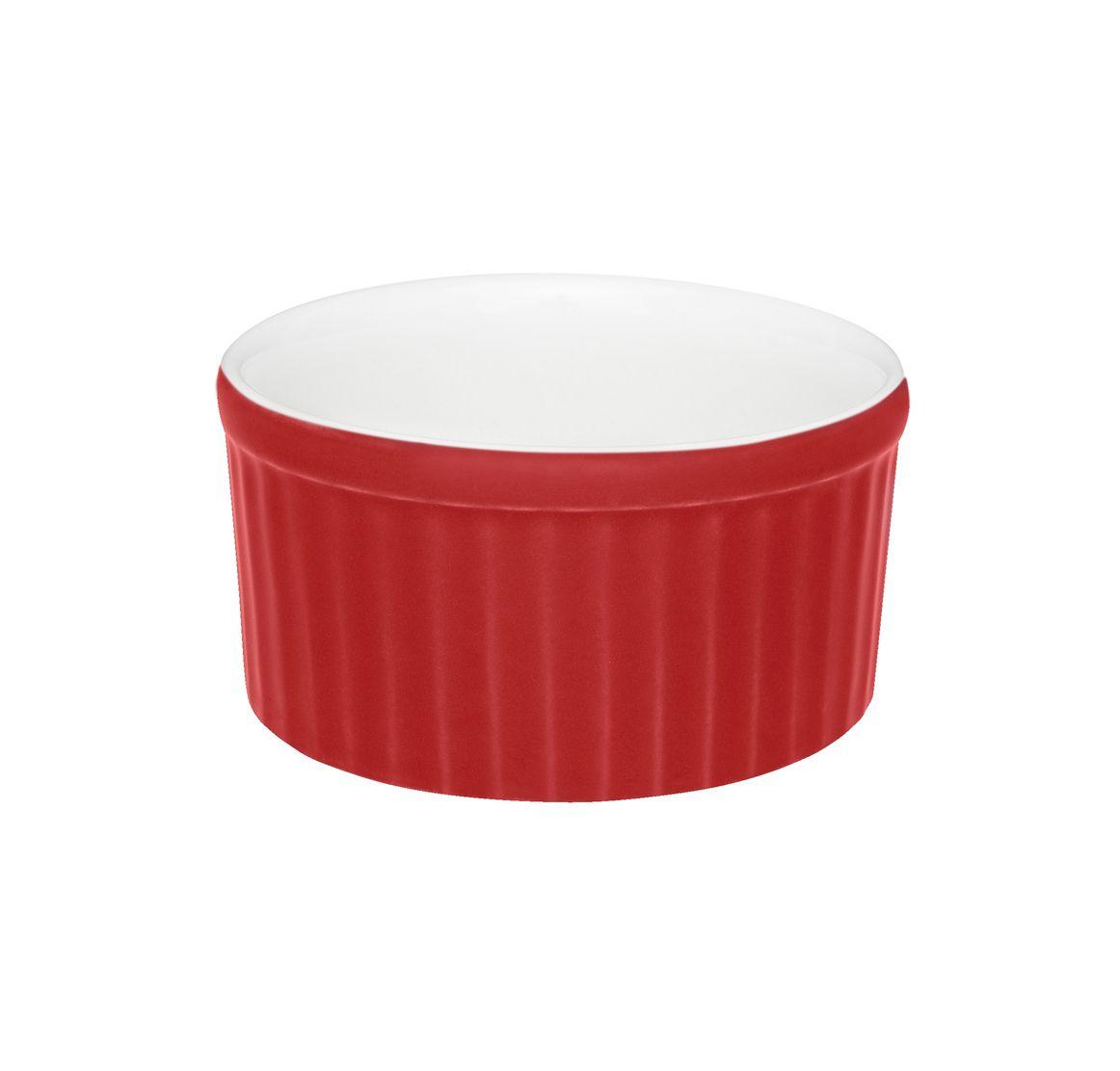 Tigela Ramequin 10X5Cm 180Ml - Branco/Vermelho - Oxford Cookware