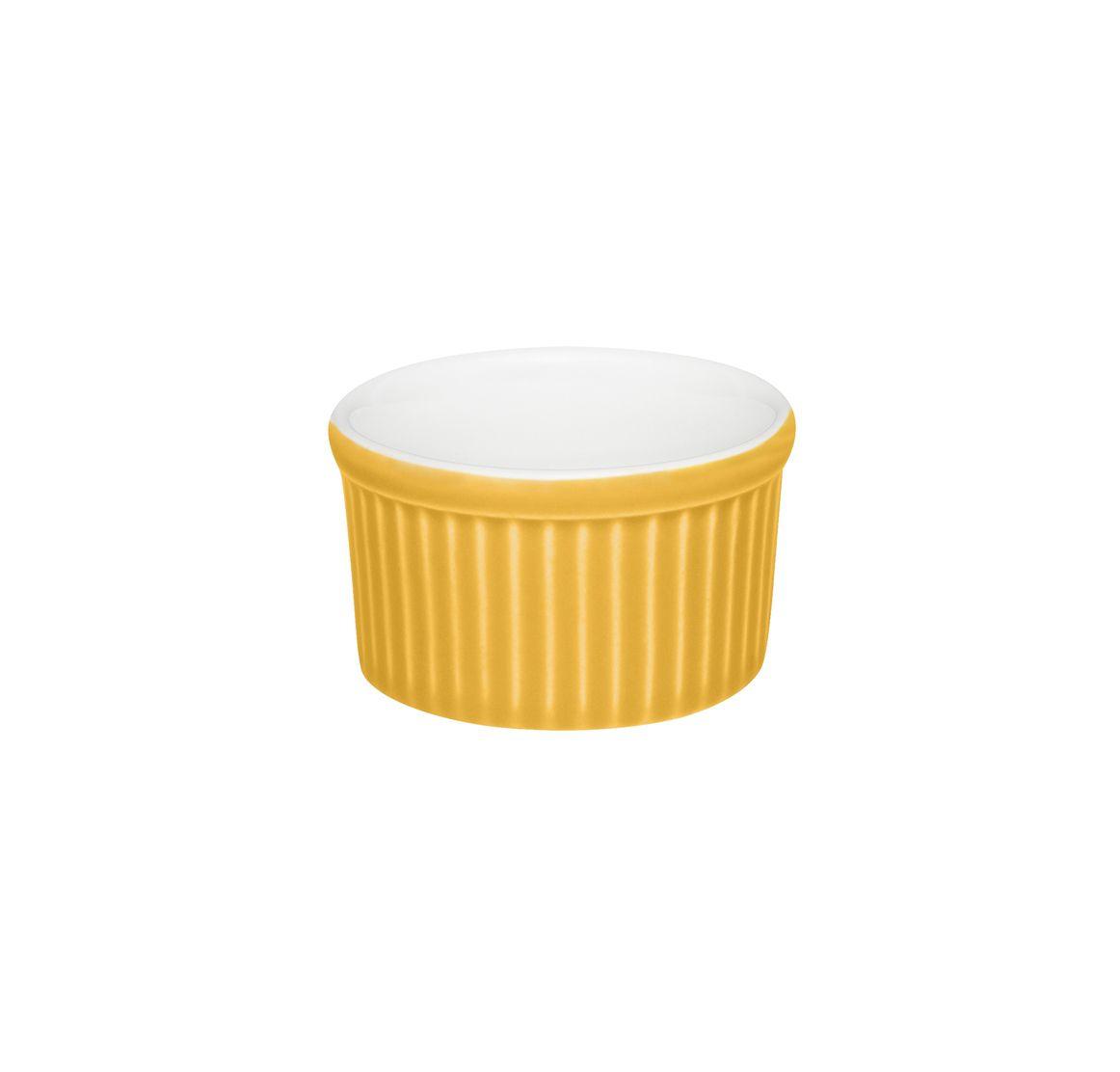 Tigela Ramequin 6X3Cm 50Ml - Branco/Amarelo - Oxford Cookware