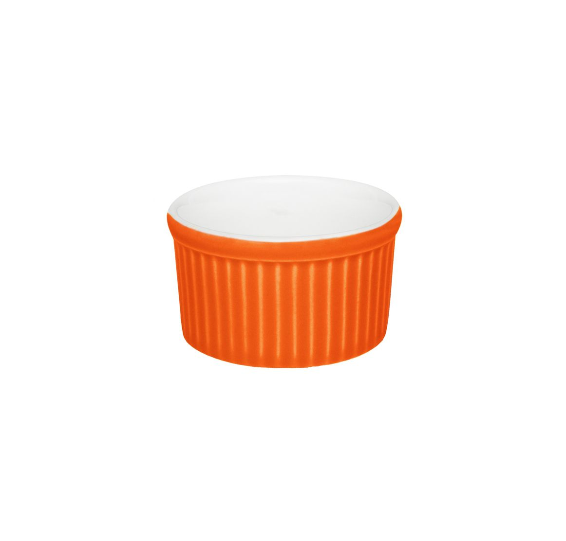 Tigela Ramequin 6X3Cm 50Ml - Branco/Laranja - Oxford Cookware