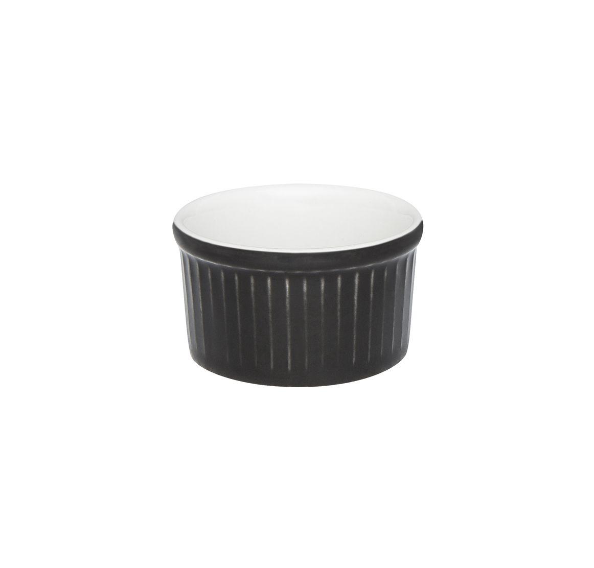 Tigela Ramequin 6X3Cm 50Ml - Branco/Preto - Oxford Cookware
