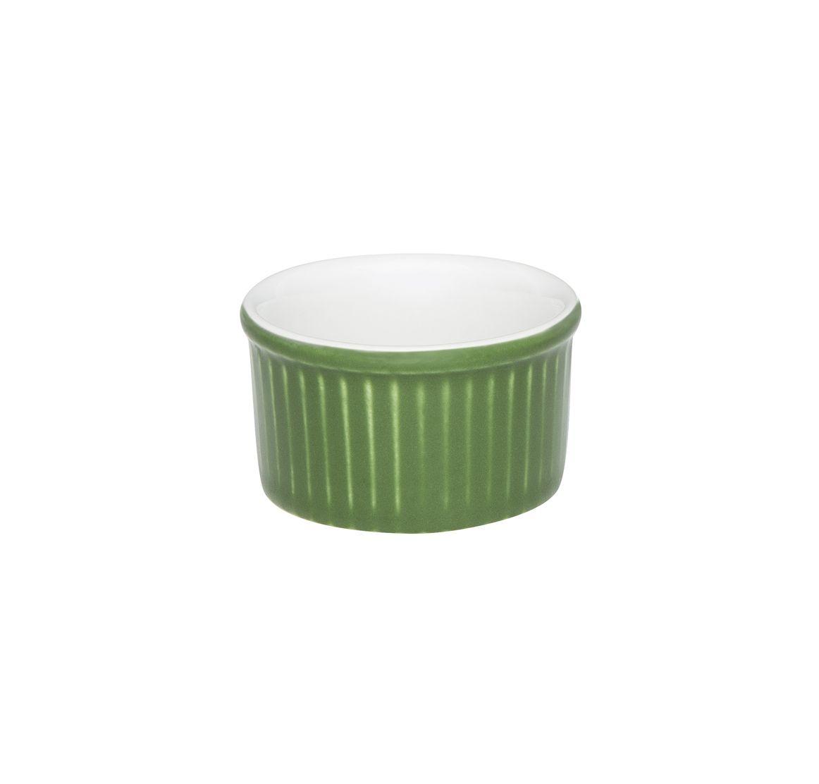 Tigela Ramequin 6X3Cm 50Ml - Branco/Verde - Oxford Cookware