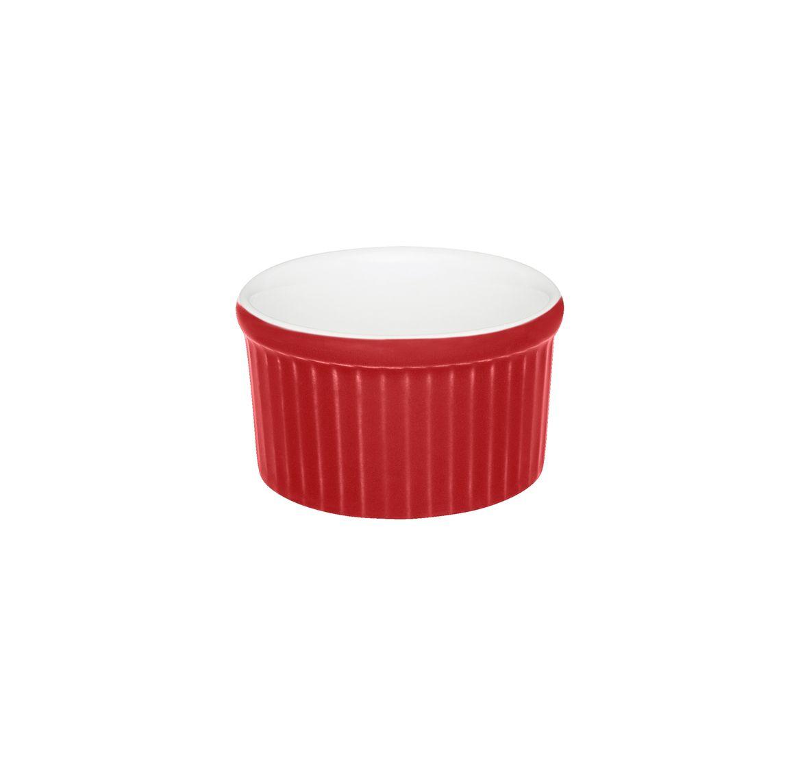 Tigela Ramequin 6X3Cm 50Ml - Branco/Vermelho - Oxford Cookware