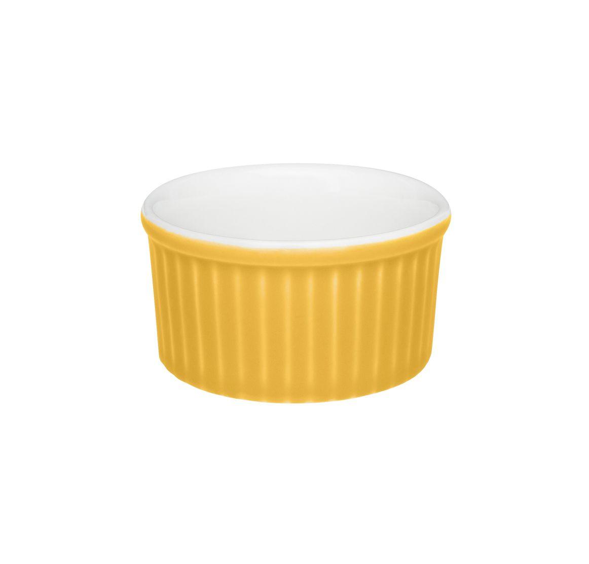 Tigela Ramequin 8X4Cm 100Ml - Branco/Amarelo - Oxford Cookware