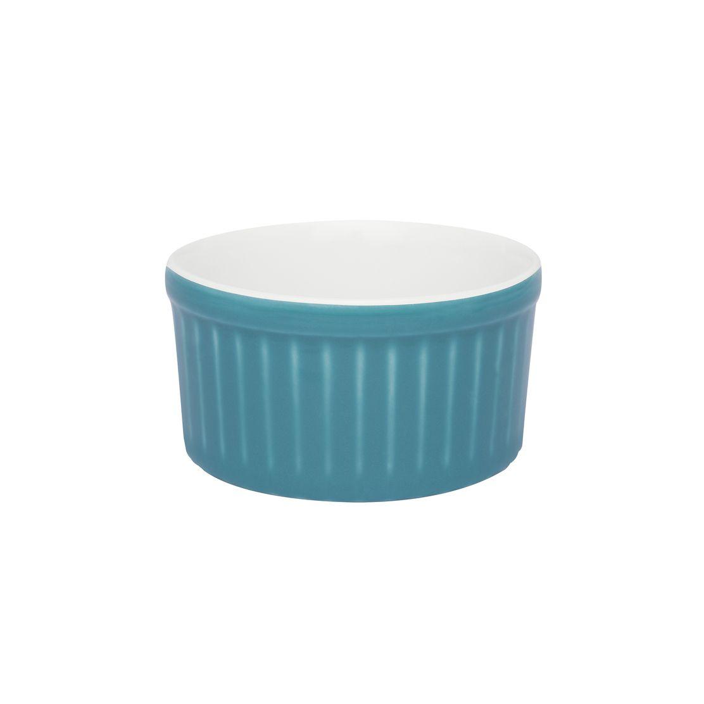 Tigela Ramequin 8X4Cm 100Ml - Branco/Azul - Oxford Cookware