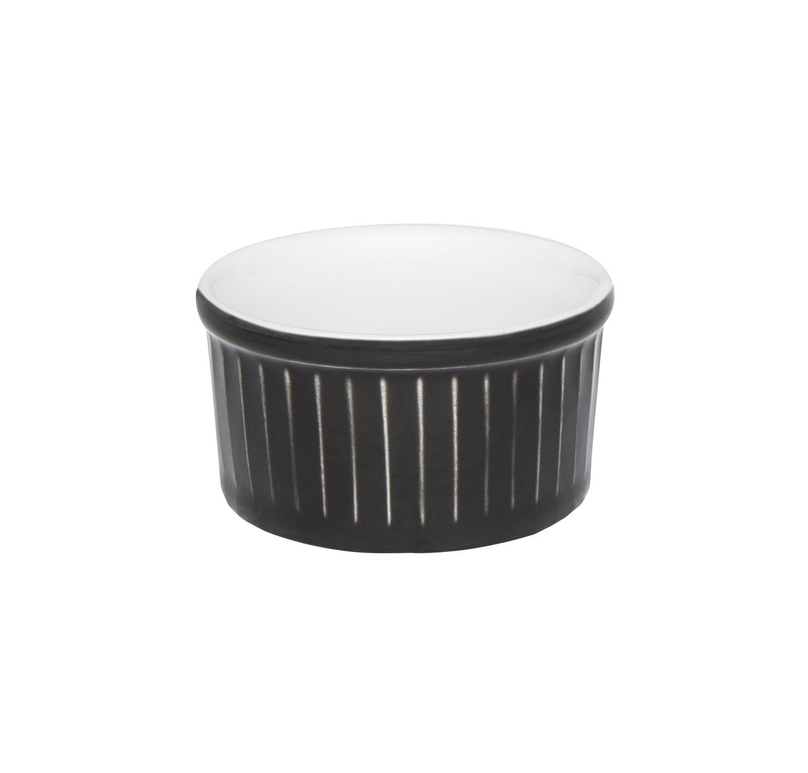 Tigela Ramequin 8X4Cm 100Ml - Branco/Preto - Oxford Cookware