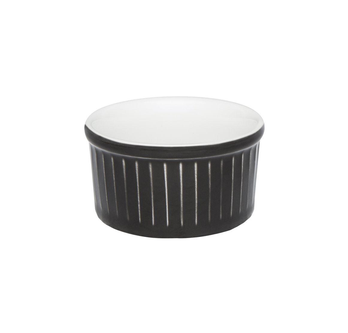 Tigela Ramequin 8X4Cm 100Ml - Branco/Preto - Oxford Cookware