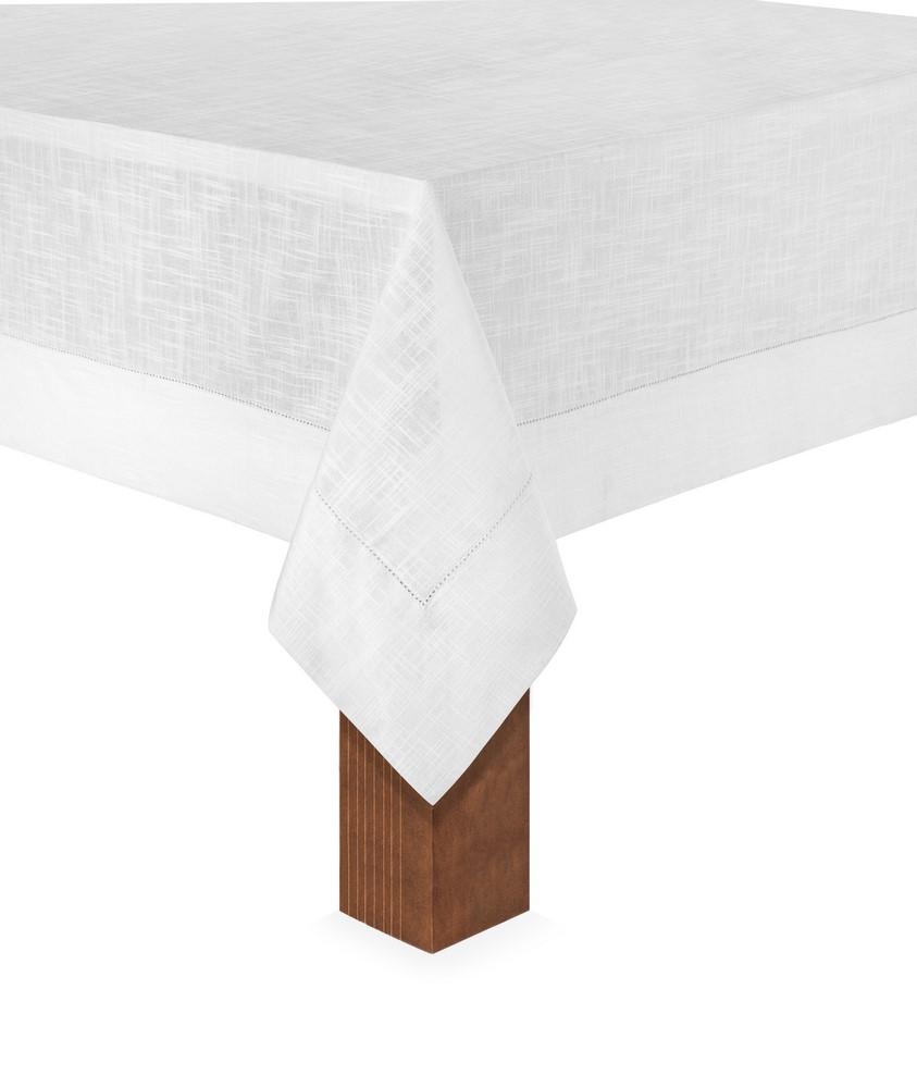 Toalha de Mesa 8 Lug 1,60x2,70 Coloratta Branco Copa&Cia