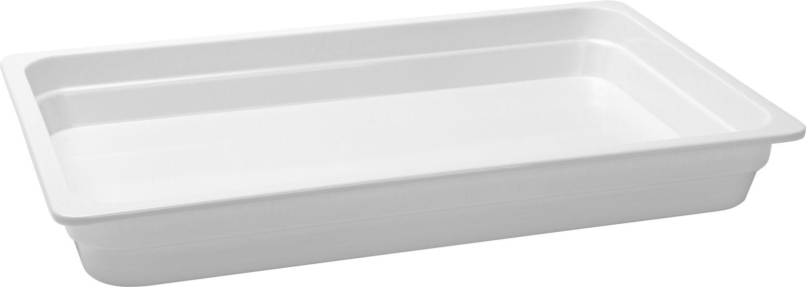 Travessa Container Retangular Em Melamina 52.4X32Cm - Branco Marfim - Oxford