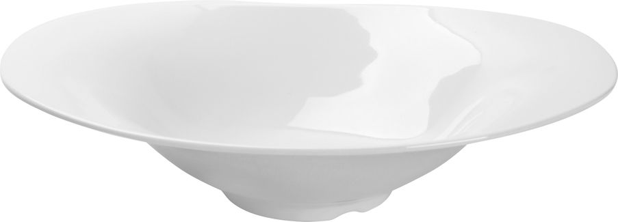 Travessa Funda Landscape Em Melamina 35,6X23,6Cm - Branco Marfim - Oxford