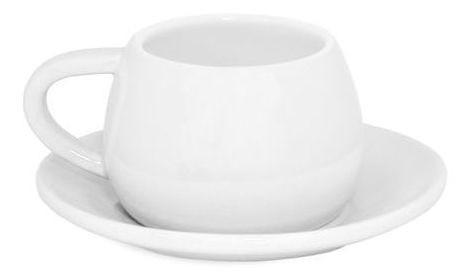 Xícara E Pires Tropeiro de Cerâmica Ceraflame Branco
