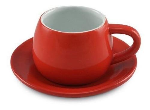 Xícara E Pires Tropeiro de Cerâmica Ceraflame Vermelho