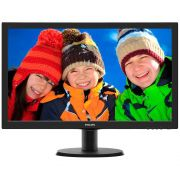 Monitor LCD 23,6'' Widescreen Philips 243V5QHABA Full HD Preto - HDMI, SmartControl Lite