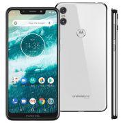 Smartphone Motorola One XT1941 Branco 64GB Tela de 5,9'',Câmera Traseira Dupla