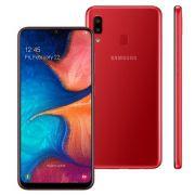 Smartphone Samsung Galaxy A20, Dual Chip, Vermelho, Tela 6.4'', 32GB,  Camera Dupla 13MP+5MP e Frontal 8MP, 4G+Wi-Fi