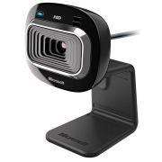 Webcam Microsoft Lifecam HD-3000 720p HD Preto - USB, Com Microfone