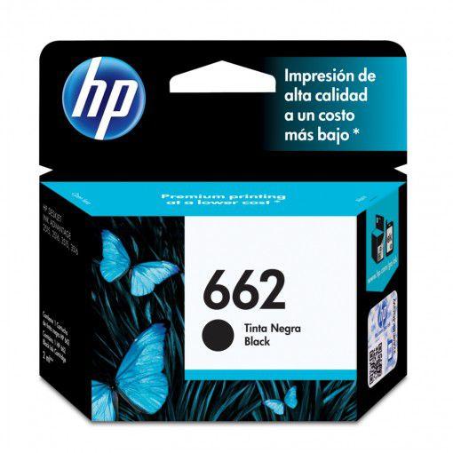 Cartucho HP 662 Preto 2ml CZ103AB