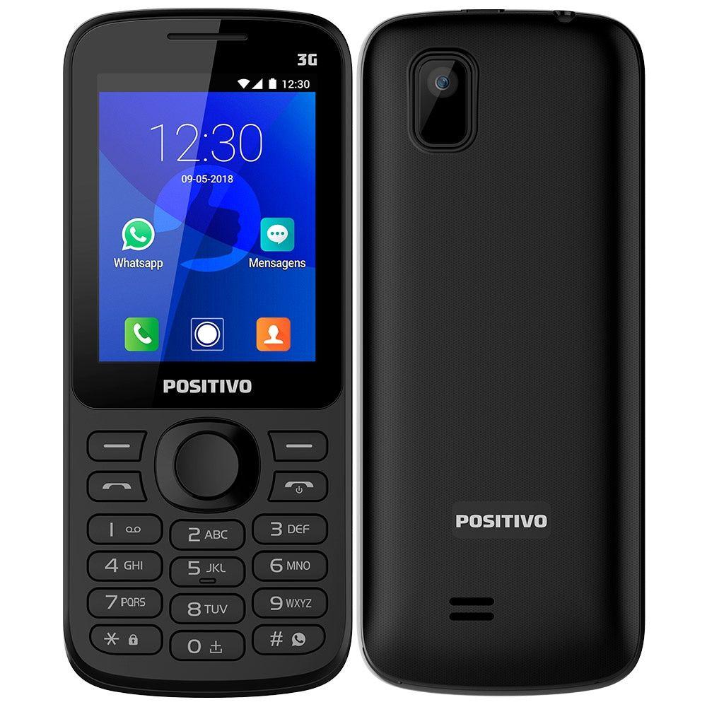 Celular Positivo P70 Preto, Dual Chip, Tela 2.4'', Bluetooth, 256MB - 3G