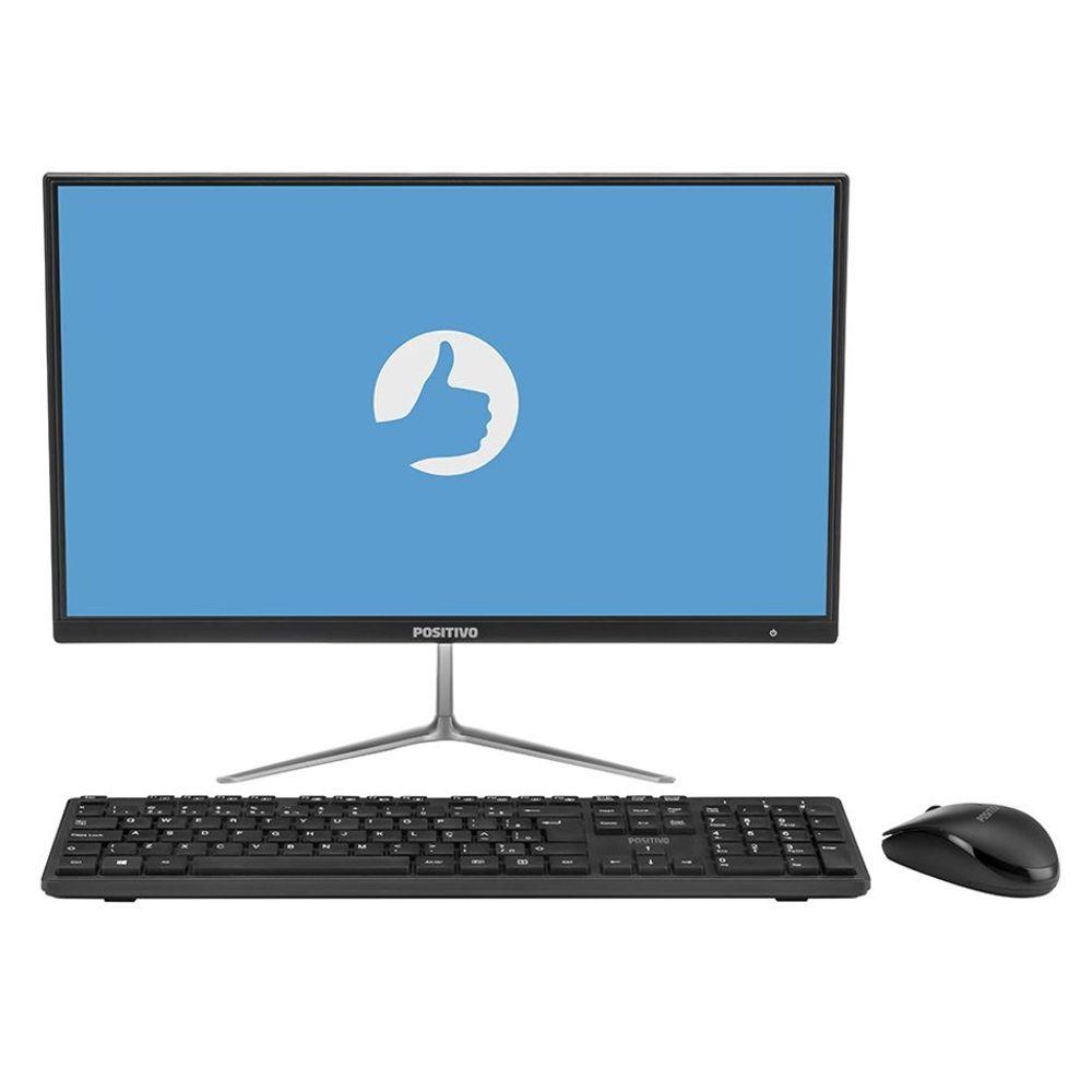 """Computador Positivo All in One Master A1120, Intel Celeron, RAM 4GB, HD 64GB, eMMC Tela 21.5"""" - Windows 10 Pro"""
