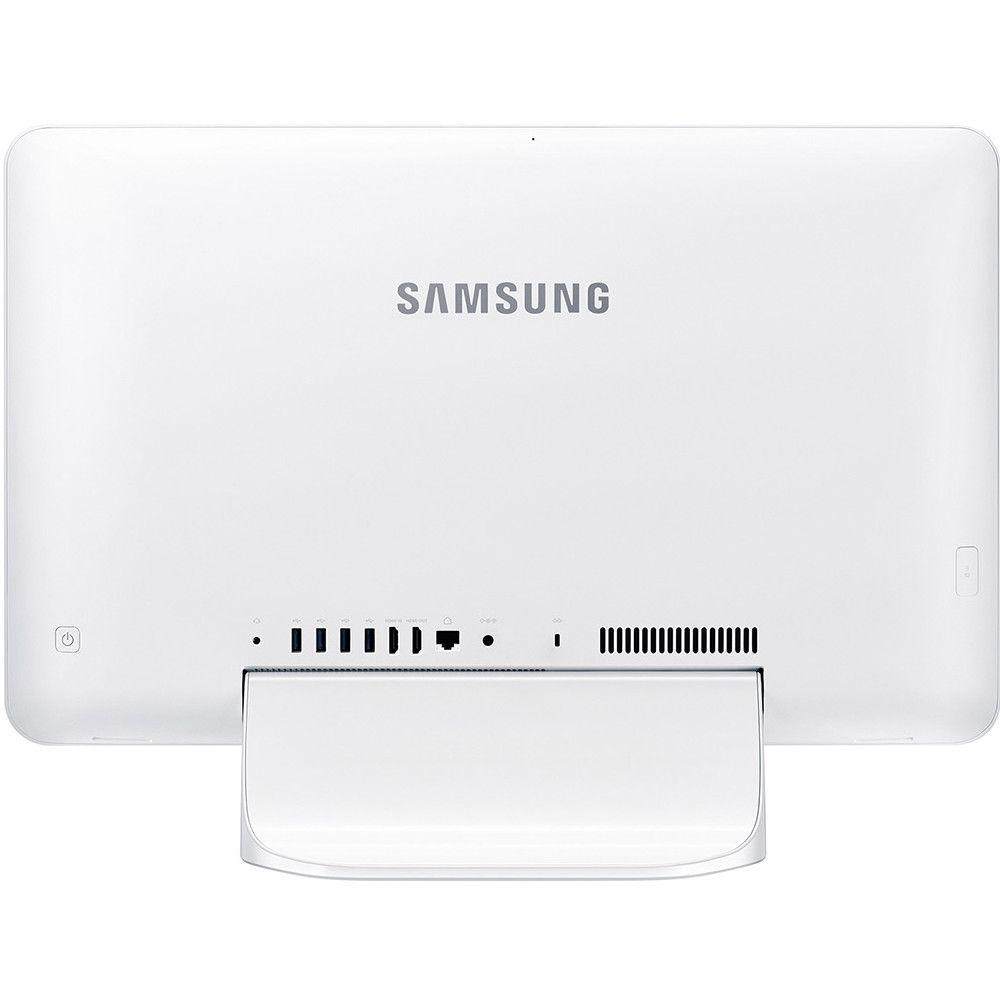 Computador Samsung All In One E1, Intel Celeron 3865U, Tela 21.5'', 4GB, 500GB Windows 10 Home - Branco
