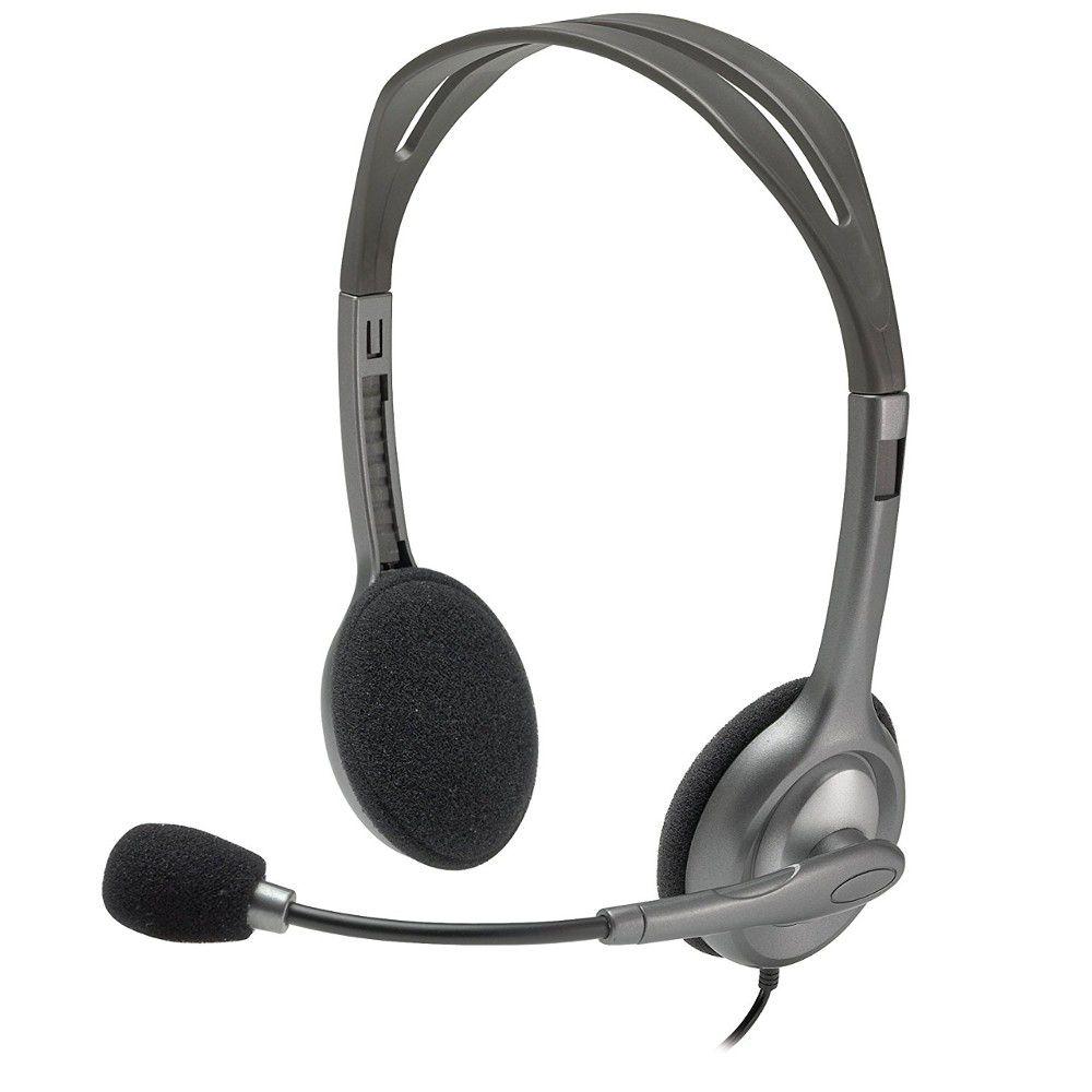 Headset Logitech Stéreo H111 Preto - P2, Com Fio