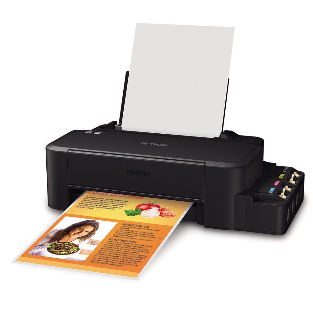 Impressora Epson Tanque de Tinta EcoTank L120 - Bivolt, USB